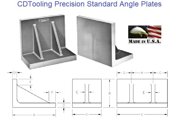 Angle Plates Precision Non Slotted Made In USA